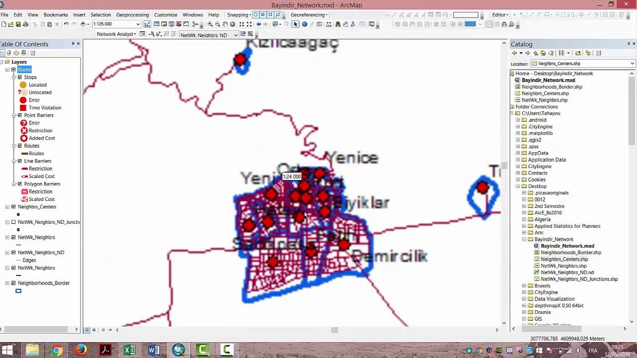 How to Calculate shortest Paths for Multiple Origins/Destinations with  ArcGIS 10 2