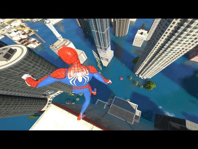 GTA 5 Water ragdolls   SPIDERMAN Jumps/Falls Compilation (Euphoria physics/Funny Moments)