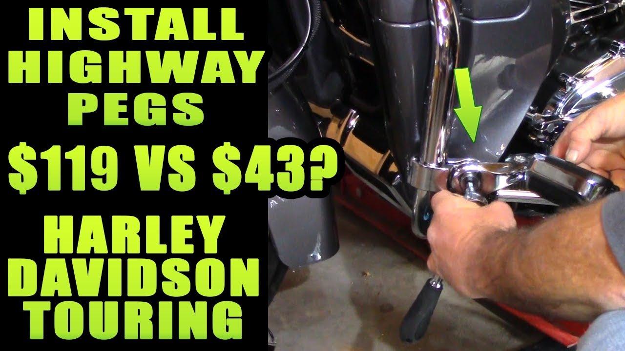 Style B Highway Pegs Mount, Black TCMT 1-1//4 32mm Gloss Black Long Angled Adjustable Highway Peg Mount Kit Fits For Harley