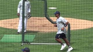 Russell Wilson vs. Richard Sherman at the charity softball game