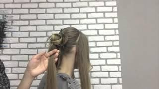 Лена Волкова LSTUDIO. Уроки причесок. Роза из волос. Hair rose.