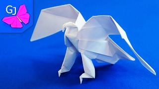 Оригами Орел из бумаги