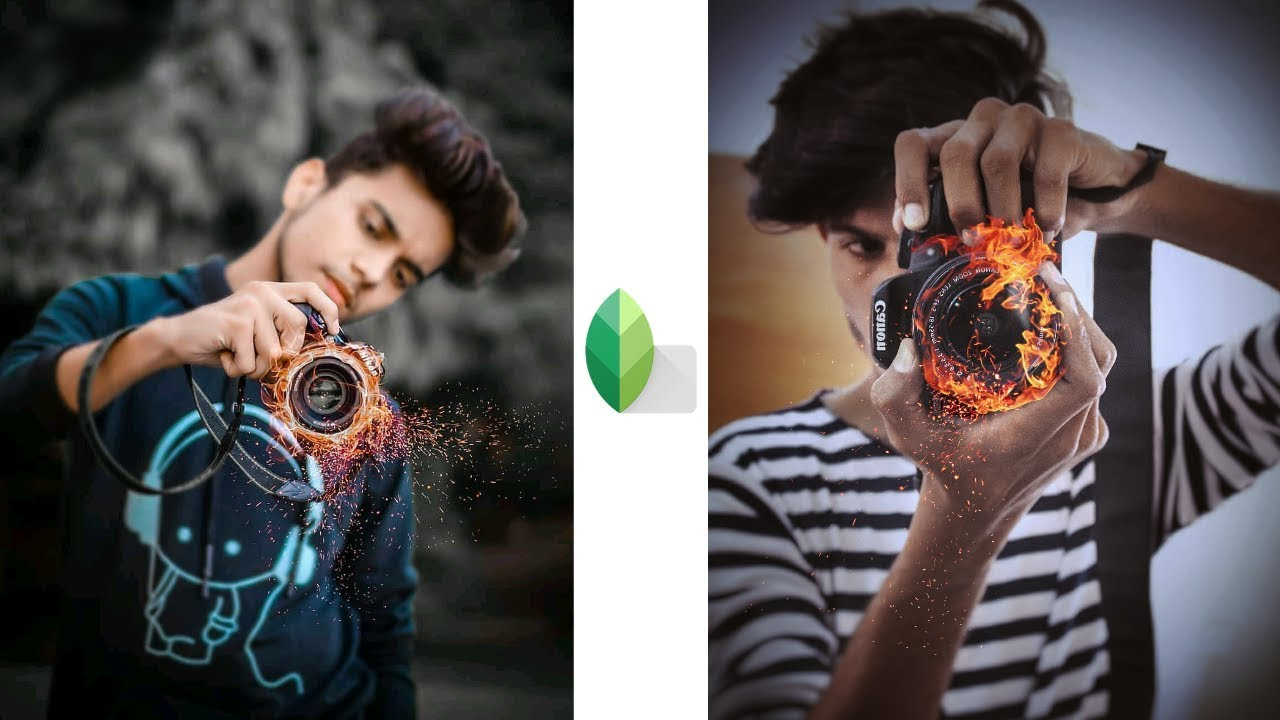 Snapseed Camera Fire Effect Photo Editing Tutorial Step By ...