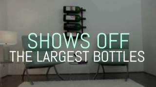 Wall Series Big Bottle Metal Wine Rack
