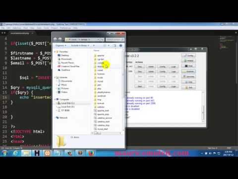INSERT DELETE EDIT UPDATE SELECT DATA PHP SQL HTML CSS DATABASE TUTORIAL