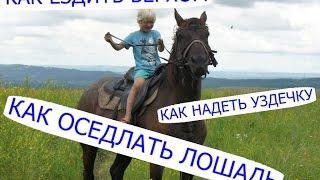 Как оседлать лошадь, как надеть уздечку, как ездить верхом(Как оседлать лошадь, как надеть уздечку, как ездить верхом все это мы узнали за пару дней) Семейный канал..., 2016-01-18T07:30:00.000Z)