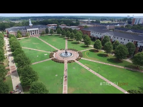 Troy University: Troy Campus From the Air