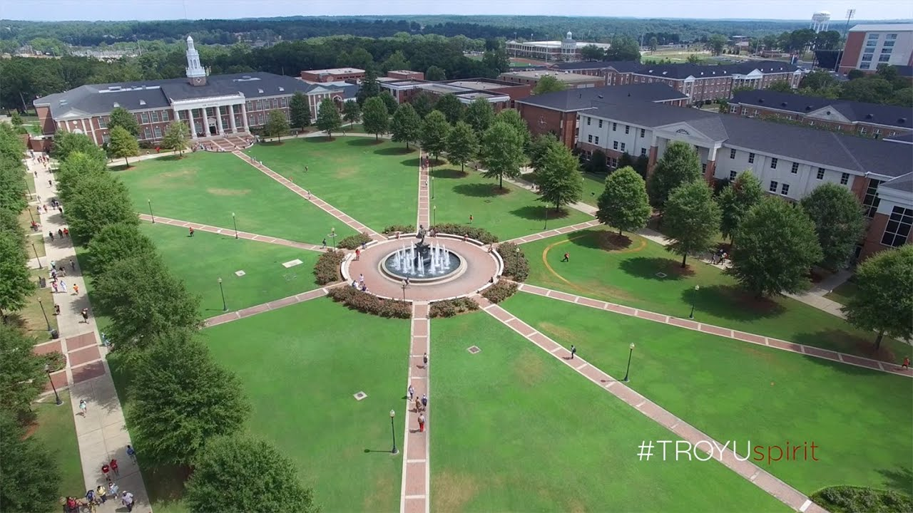 Troy University Troy Campus From The Air Youtube