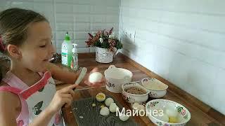 Рыбный салат Австрийский или мимоза