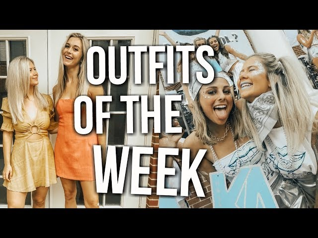 outfits of the week: sorority recruitment 2018 + bid day vlog