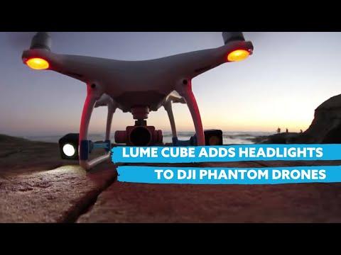 195b305d1c827e Lume Cube Adds Headlights to DJI Phantom 3 + 4 Drones - YouTube