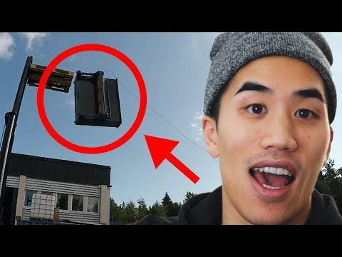 Making a beat with a piano dropped from 20ft | Andrew Huang