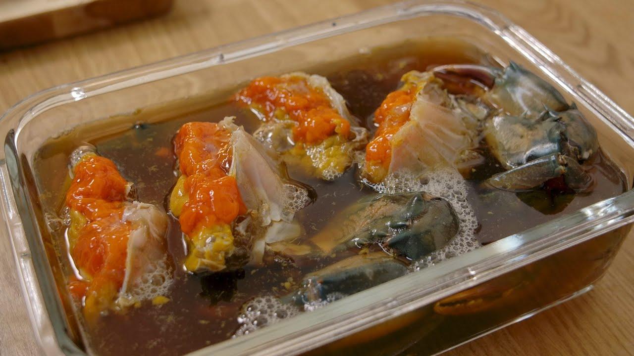 สูตรทำปูไข่ดองกินเอง พร้อมน้ำจิ้มซีฟู้ดรสแซ่บ Marinated raw crab  thai street food