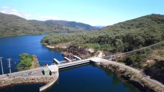 Dji Phantom3 professional aerial footage of Blowering Dam NSW