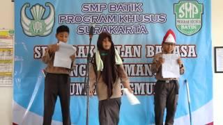 Puisi Berantai Siswa Siswi SMP Batik Program Khusus Surakarta
