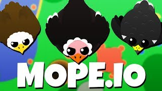 Attack of the BIRDS! - NEW Mope.io Update! - Mope.io Gameplay