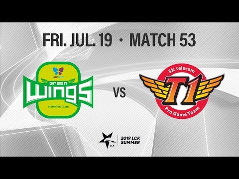 진에어 vs SKT | Match53 H/L 07.19 | 2019 LCK 서머