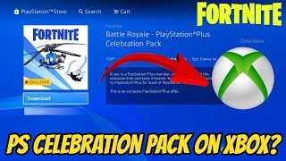 Fortnite Playstation Plus Pack On Xbox (Coaxial blue glider)