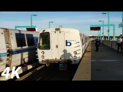 ⁴ᴷ⁶⁰ BART: Daly City, Dublin/Pleasanton And Antioch Trains At West Oakland