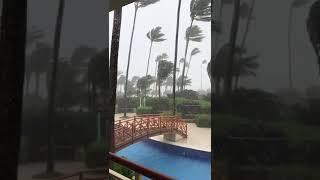 Русские пережили мощнейший ураган Мария в доминикане