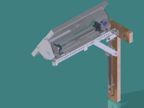 Assembly Of The Solar Panel Tilting Mechanism Youtube