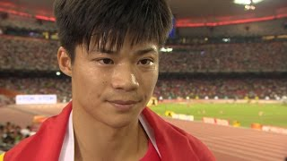 WHC 2015 Beijing - Bingtian Su CHN 100m Final 9th