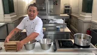 Kaia's Sou Chef, Arlan Rivera, shows us to make Japanese fried chicken