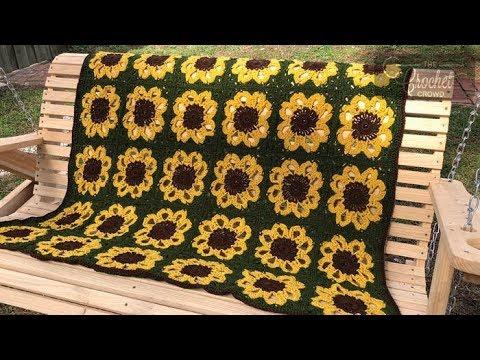 How To Crochet An Afghan: Sunflower Throw