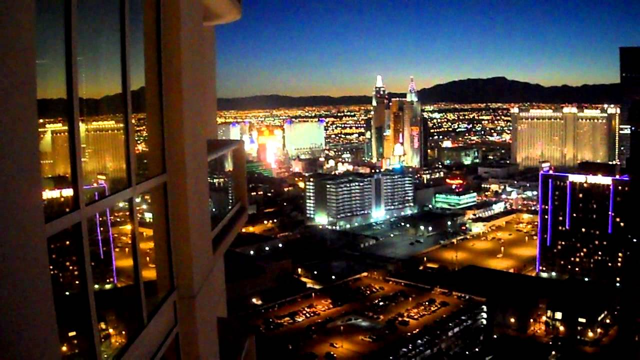 Night View From Balcony At The Signature At Mgm Grand Las