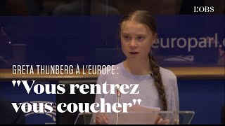 Greta Thunberg Face à L'europe : 8 Minutes D'un Discours Tonitruant Contre Le