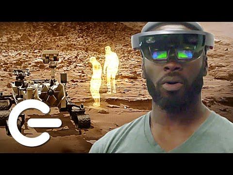 NASA's Mars Hololens Demo - The Gadget Show