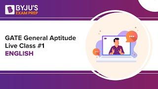 GATE 2019 General Aptitude Live Class #1 | English | Udisha Mishra