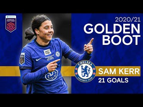 Sam Kerr's Golden Boot Winning Season   All 21 Goals   Women's Super League 2020/21