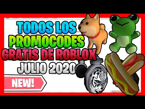 Todos Los Promocodes Gratis De Roblox Julio 2020 Youtube