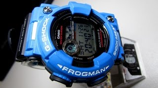 8b83e65e4a5 G Shock GWF1000 Frogman with blue custom bezel unboxing by TheDoktor210884