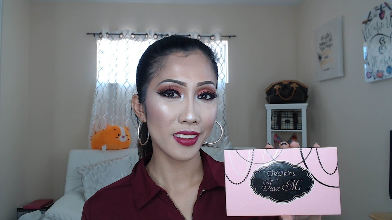 Makeup Creations Review Saubhaya Beauty Cosmetics 35 Pro Palette Ilena Creation Tease Me And Swatches