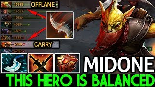 Midone [Bounty Hunter] This hero is Balanced Cancer Steal Gold 7.21 Dota 2