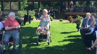 92-Year-Old Grandma Wows Guests as Flower Girl in Wedding With Decorated Walker