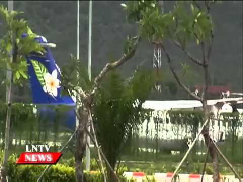Lao NEWS on LNTV: Laos develops four major airports to Asean standards.11/2/2015