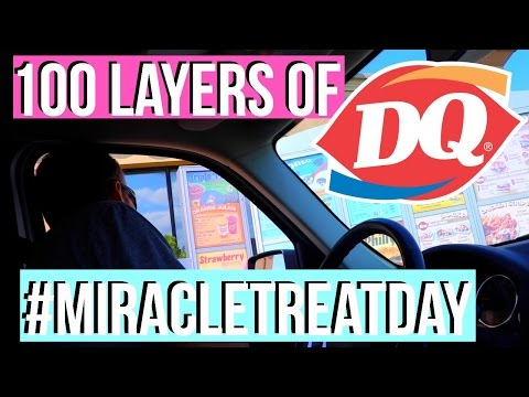 100 layers of Dairy Queen toppings | #MiracleTreatDay