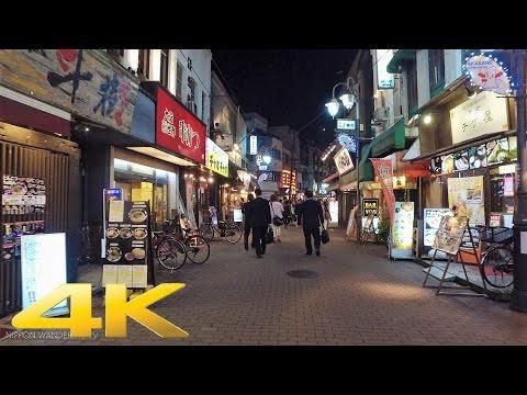 Walking around Akabane east area, Tokyo by night - Long Take【東京・赤羽/夜景】 4K
