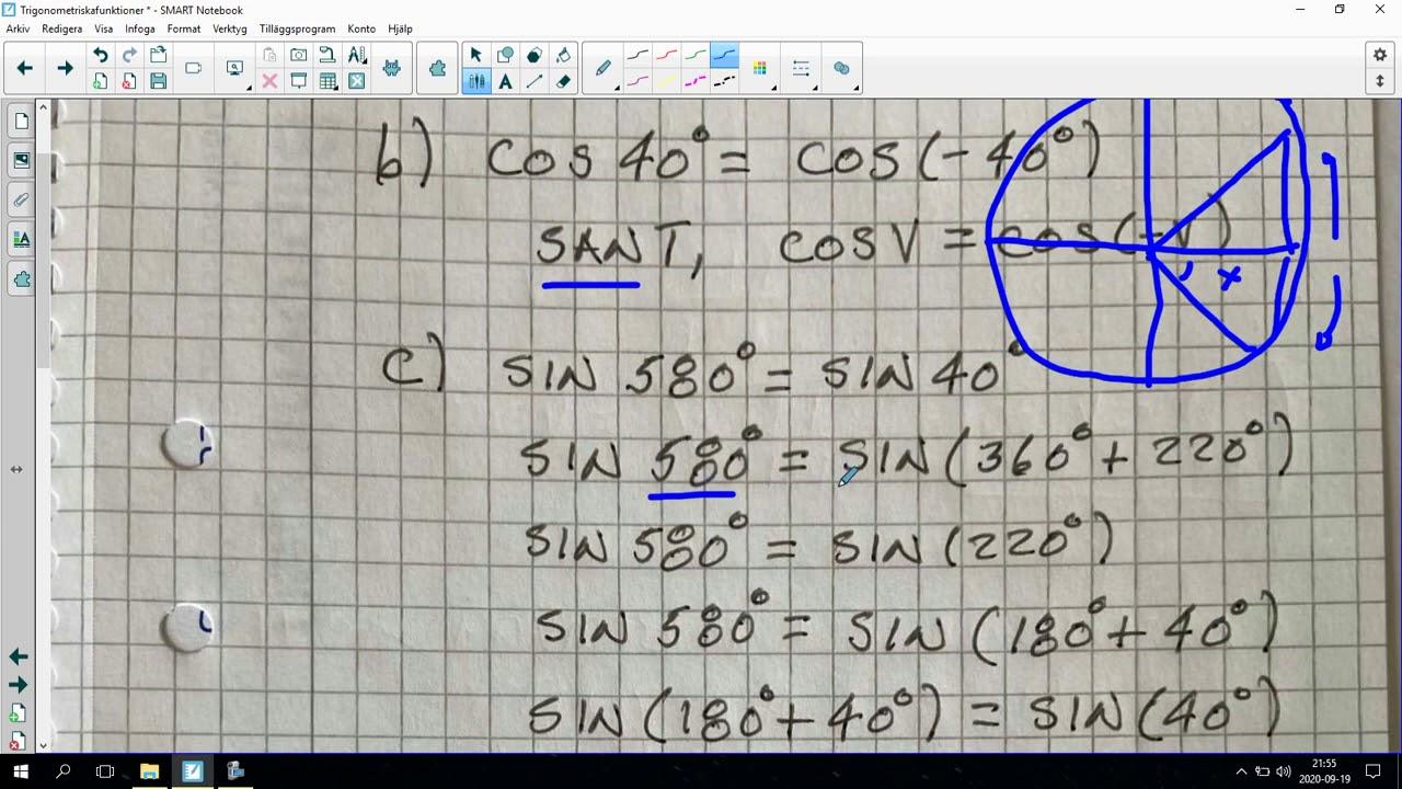 122. Trigonometriska funktioner 8