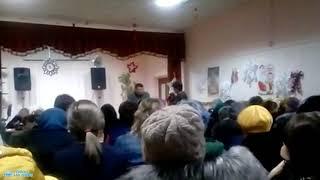 Фрагмент собрания в школе № 3 г. Облучье (ЕАО)