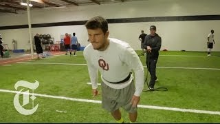 Repeat youtube video How Johnny Manziel & Other Football Prospects Train for the N.F.L. Combine | The New York Times