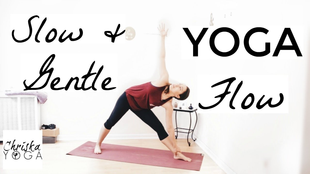 Gentle Yoga - 42 Minute Slow and Gentle Yoga Flow - Full Body Gentle Flow -  Beginners Yoga