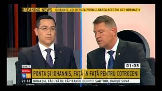 Dezbatere Victor Ponta - Klaus Iohannis, B1 TV, 12 Noiembrie 2014 - Emisiune completa