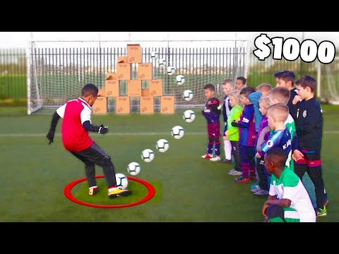 First Kid To Hit Mystery Box in Soccer Challenge Wins $1000