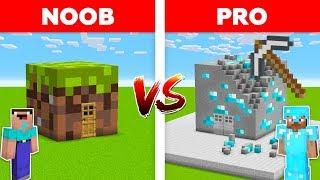 Minecraft NOOB vs PRO: DIRT NOOB HOUSE vs DIAMOND PRO HOUSE IN MINECRAFT ! Challenge 100% trolling