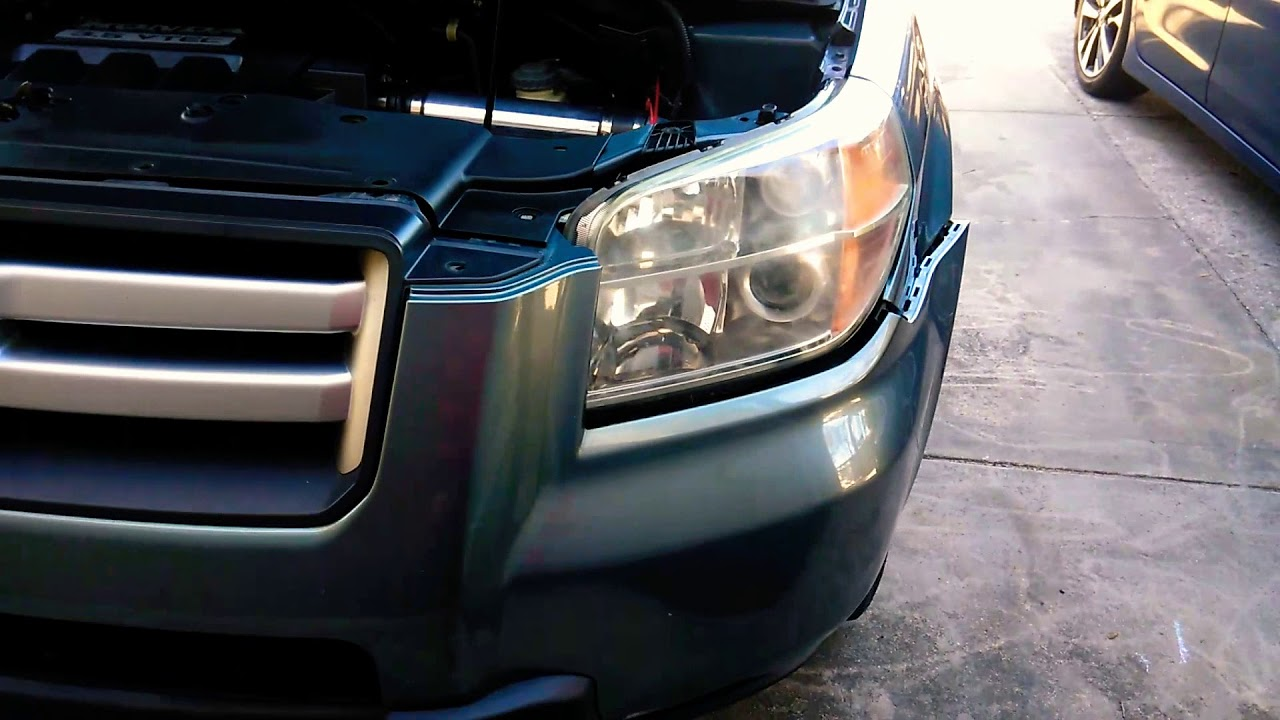 06 08 Honda Pilot Headlight Remove Or Install