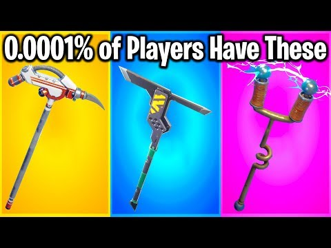 TOP 10 RAREST PICKAXES IN FORTNITE (u Probably Know #1)